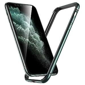 ESR iPhone 11 Pro ケース アイホン 11 Pro 衝撃吸収バンパー ケース 【スリム 軽量 電波影響無し 安心保護 ストラップホール付き】5.8インチ iPhone 11 Pro 專用スマホケース (ダークグリーン)