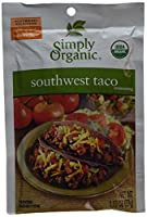 Simply Organic, Southwest Taco Seasoning, 12 Packets, 1.13 oz (32 g) Each