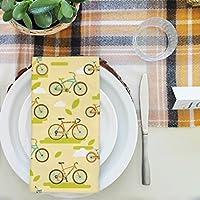 artzfolio Bikesテーブルナプキンサテン生地 16inch x 16inch; SINGLE PIECE AZKIT33635256NAP_TB_L_01-S1_SN