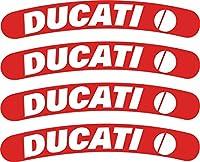 Ducatiホイールデカールセット roughly 4.5 x.8 レッド DucWheel1