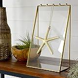 【アジア工房】 ガラスと真鍮でできたアクセサリースタンドケース(63200) [並行輸入品]