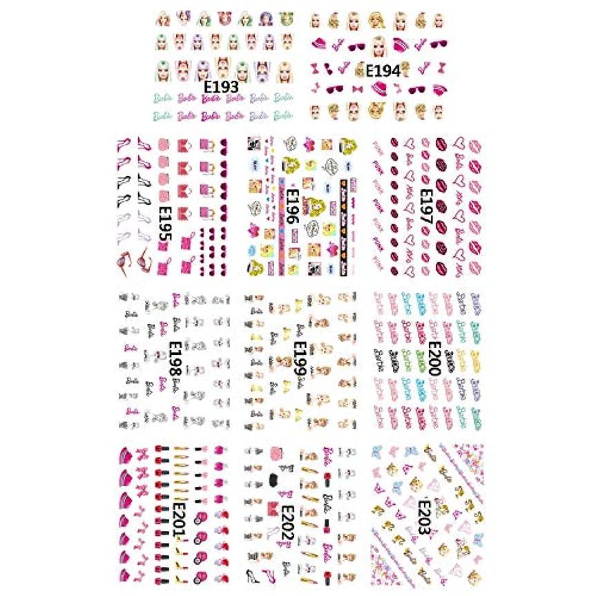 手紙を書く船乗りドナーファッション水転写ネイルアートデカールステッカー美容おもちゃ人形デザインネイルステッカー装飾DIYバービー