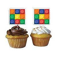 Building Block Party Cupcake Toppers ビルディングブロックパーティーカップケーキトッパーは♪ハロウィン♪クリスマス♪