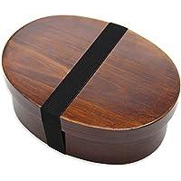 木製 弁当箱 曲げわっぱ 一段 漆塗り 女性 男性 高校生用 茶色