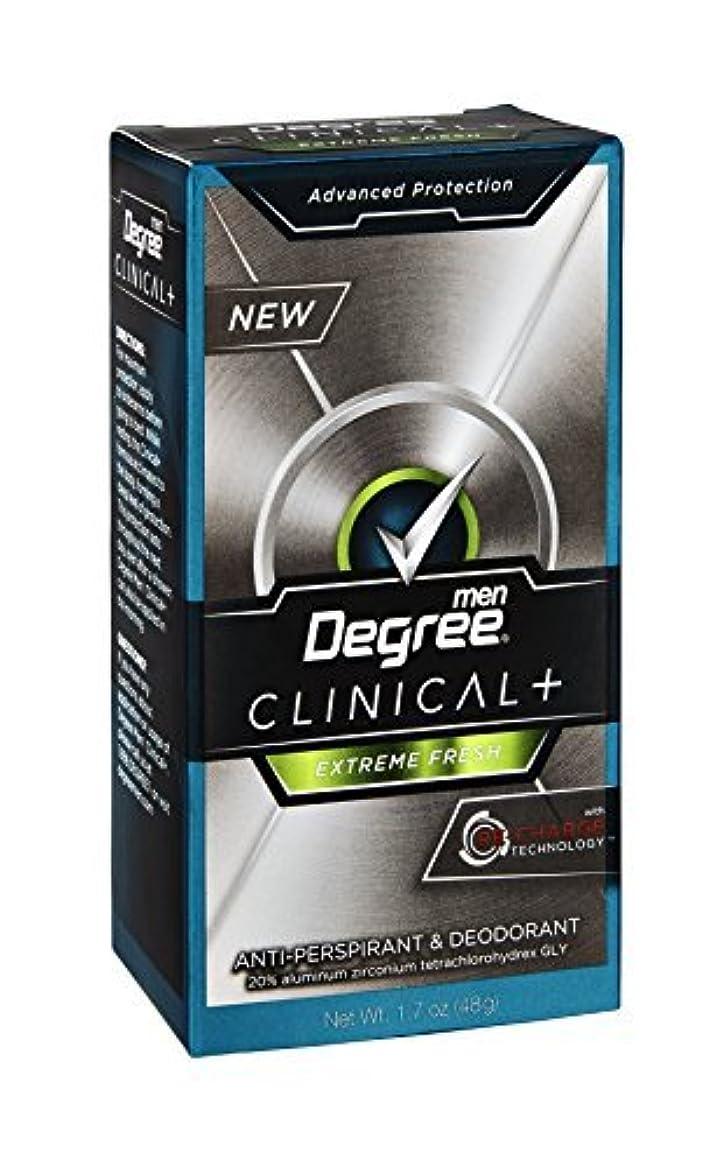 直面する涙が出る飢えたDegree Men Clinical + Extreme Fresh Anti-Perspirant & Deodorant, 1.7 OZ (Pack of 6) by Degree [並行輸入品]