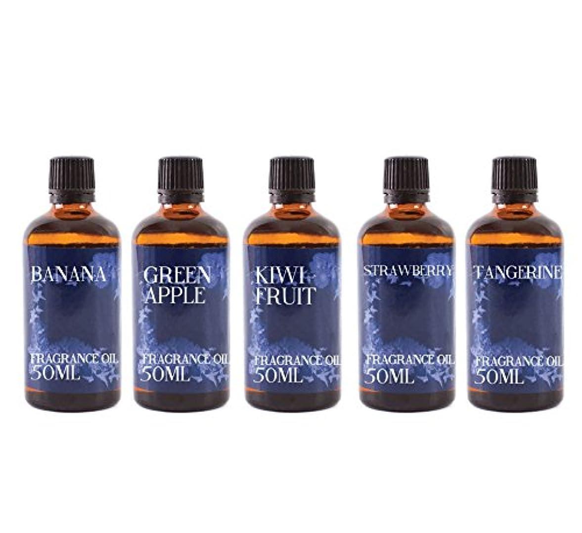 シロクマ商人国家Mystic Moments | Gift Starter Pack of 5 x 50ml Fruit Salad Fragrant Oil