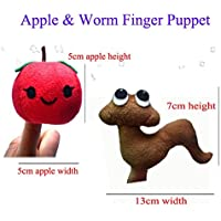 ychoice面白いFinger Puppetsおもちゃ2個フィンガーパペットセットソフトおもちゃ子供の学習再生ストーリーApple and Worm指