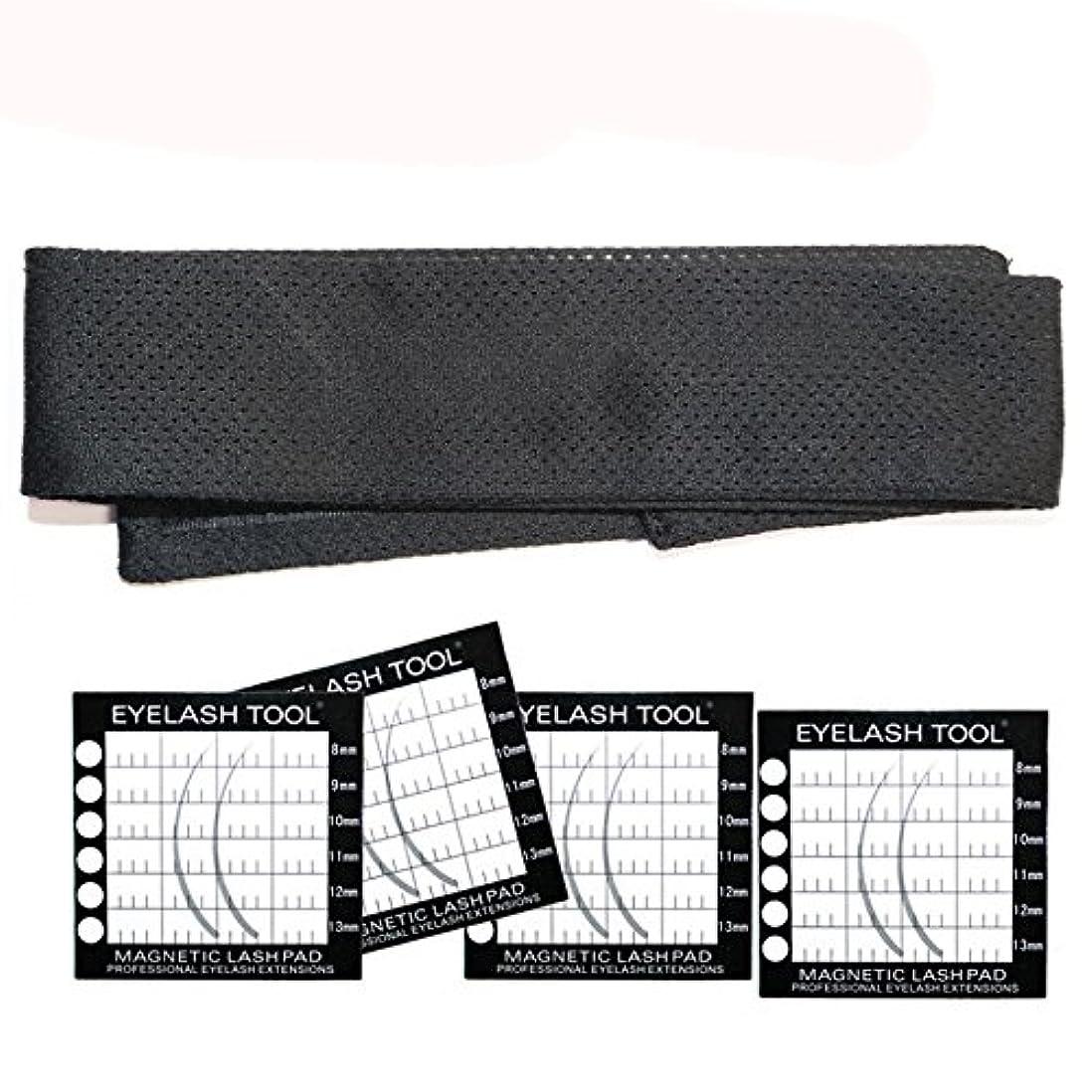 誕生日コジオスコステージ接木まつげエクステンション用まつげルートセパレータ磁気ヘッドバンドパッド