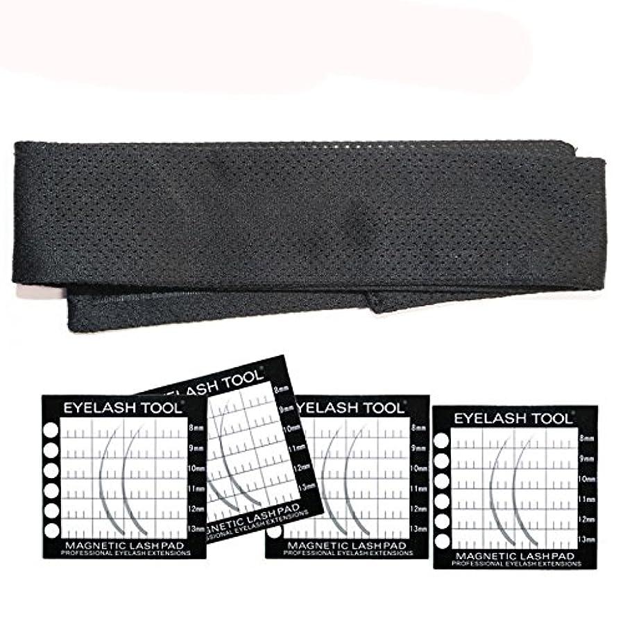 黒鮮やかな二次接木まつげエクステンション用まつげルートセパレータ磁気ヘッドバンドパッド