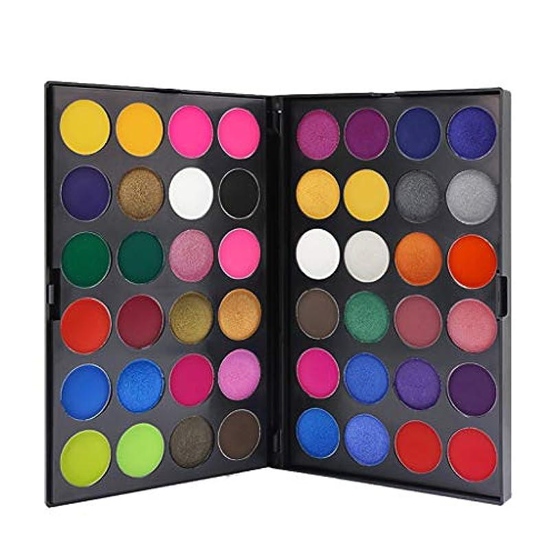 道生息地威する48色のきらめきのきらめきのアイシャドウの粉のマットのアイシャドウの化粧品の構造