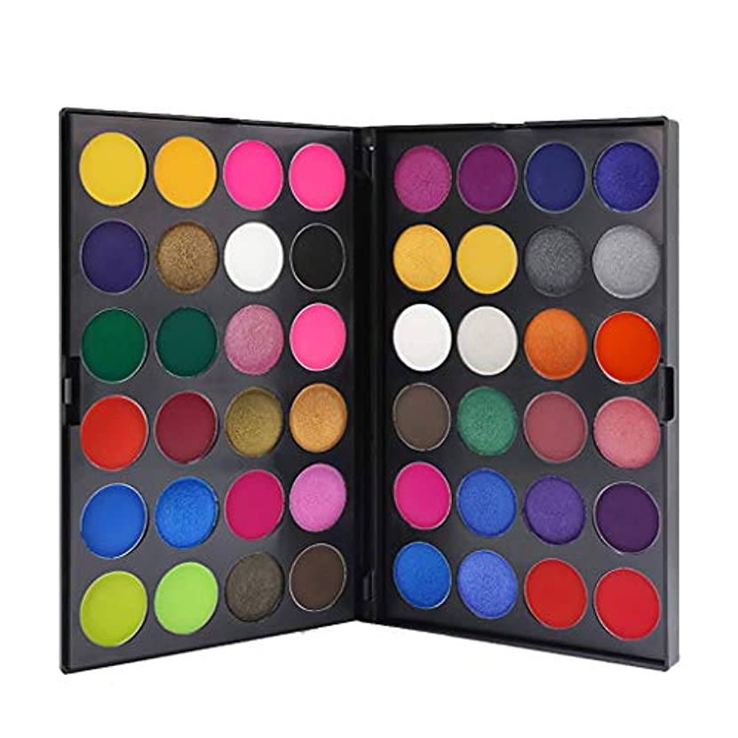 ゲインセイ一元化する企業48色のきらめきのきらめきのアイシャドウの粉のマットのアイシャドウの化粧品の構造