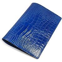 アクュード Cookday 日本製 本革 手帳カバー Made in Japan コッコ クロコ型押 A5サイズ用 - BDA5-02 BL ブルー