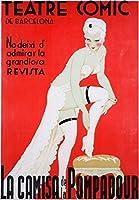Teatre Comic de Barcelona–La Camisa de la Pompadourヴィンテージポスタースペイン 24 x 36 Giclee Print LANT-57954-24x36