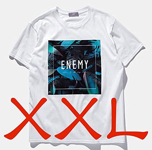 (アルファム)Alpham 半袖 Tシャツ イラスト ボタニカルプリント カットソー botanical print (04ホワイトXXL)