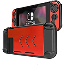 ニンテンドースイッチカバー Nintendo Switch カバー 耐衝撃 擦り傷防止 アルミニウム材Switchケース Nintendo Switch 周辺機器 (赤)
