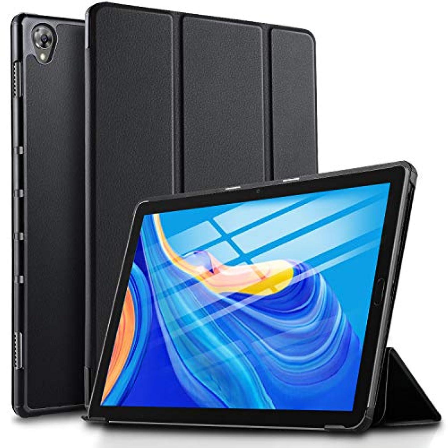 動的納税者ふつうELTD MediaPad M6 ケース huawei MediaPad M6 10.8 カバー スタンド オートスリープ機能付き 極薄 超軽量 傷つけ防止 耐久性 ブラック