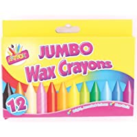 (1, assorted colours) - Artbox 12 jumbo size wax crayons set of 12 assorted colours