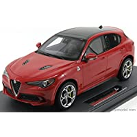 アルファロメオ ステルヴィオ Q4 クアドリフォリオ SUV ミニカー 1/18 BBR-MODELS ALFA ROMEO STELVIO Q4 QUADRIFOGLIO V6 BITURBO 510hp 2017 ALFA-RED
