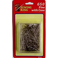 Sewing King 650 Straight Pins in a reusable Storage case by Sewing King