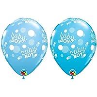 loonballoonライトブルーClassyスクリプトベビーシャワーパーティー( 6 ) It 's A Boyラテックス11