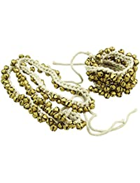 (Gold-2) - Banithani Handmade Goldtone Ghungroo Anklet Belly Dance Traditional Indian Jewellery