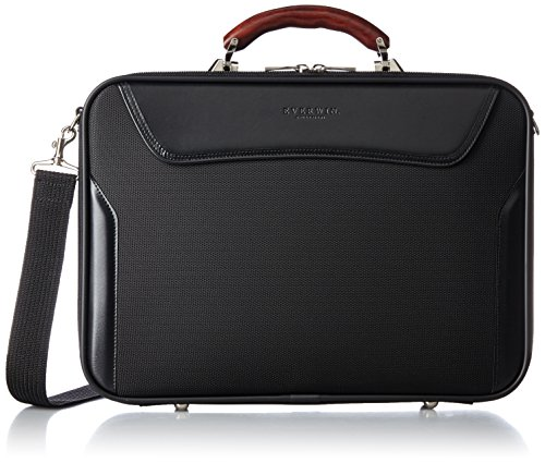 [エバウィン] ビジネスバッグ 日本製 アタッシェケース EW21575 BK ブラック