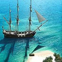 10 x 10フィート 海賊 海 写真 背景 パーティー アドベンチャー 船 アズール ビーチ アイランド 風景 写真 スタジオ 背景