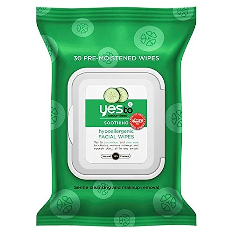 アトム葉を集める聖人Yes to Cucumbers Wipes 25 per pack (Pack of 6) - はいキュウリにパックあたり25ワイプ x6 [並行輸入品]
