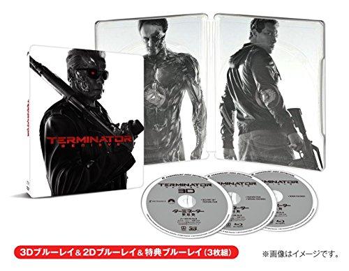 【Amazon.co.jp限定】ターミネーター:新起動/ジェニシス 3D&2D&特典ブルーレイ付き スチールブック仕様 (3枚組)(キャラクターカードセット付) [Blu-ray]