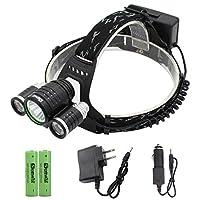 Genwiss スーパーブライト5000ルーメン4モードCREE XML-T6 XPE R2 LEDヘッドランプヘッドライト&キャンプバイクワーキング狩猟釣り乗馬ウォーキングのための自転車自転車懐中電灯