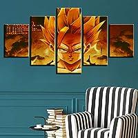 WLHBH キャンバスホーム5パネルドラゴンリビングルームhdプリント現代絵画フレーム,10x15 10x20 10x25cm,フレーム付き