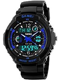 キッズ腕時計 子供用腕時計男の子 防水 ウォッチ キッズ 多機能 アナログ デジタル表示 アラーム スポーツ ボーイズ腕時計 祝日 誕生日プレゼント