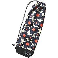 nokduk バドミントン専用ラケットケース  ファンシーシリーズ 『フラワー 紺』 スマートでコンパクト(2本可)。丁寧な縫製。