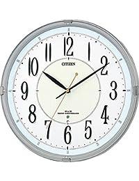 シチズン 電波 掛け時計 アナログ ネムリーナM416 高輝度 蓄光 連続秒針 銀色 CITIZEN 8MY416-019