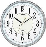 CITIZEN ( シチズン ) 電波 掛け時計 ネムリーナM416 高輝度 蓄光 連続秒針 シルバー 8MY416-019