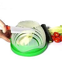 Salad Cutter Bowl 4 in 1 Multi-Function 60 Second Salad Maker Fast and Easy Vegetable and Fruit Slicer Veggie Chopper Strainer