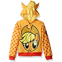 My Little Pony Girls Apple Jack Costume Zip-up Hoodie Long Sleeve Hooded Sweatshirt - Multi