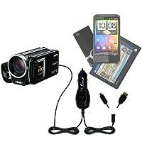 GomadicデュアルDC車オートミニ充電器Designed for the Sanyoビデオカメラvpc-fh1–Uses Gomadic複数のデバイスを充電するin Your Car