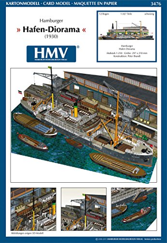 ハンブルク港ジオラマ 1:250 ペーパークラフト