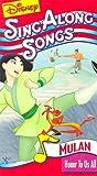 Mulan Sing Along Songs [VHS] [Import]