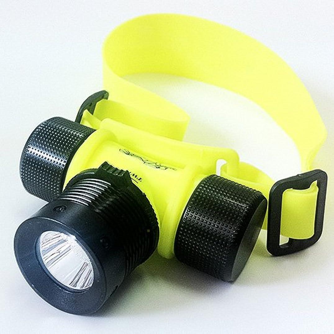 リズミカルなラッカスおばさん完全防水LEDヘッドライト(3W級) 高輝度LED?軽量?コンパクト?電池式