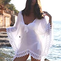 Bikini Cover up Lace Crochet Kaftan Summer Dress Beach Wear Swimwear Sarong
