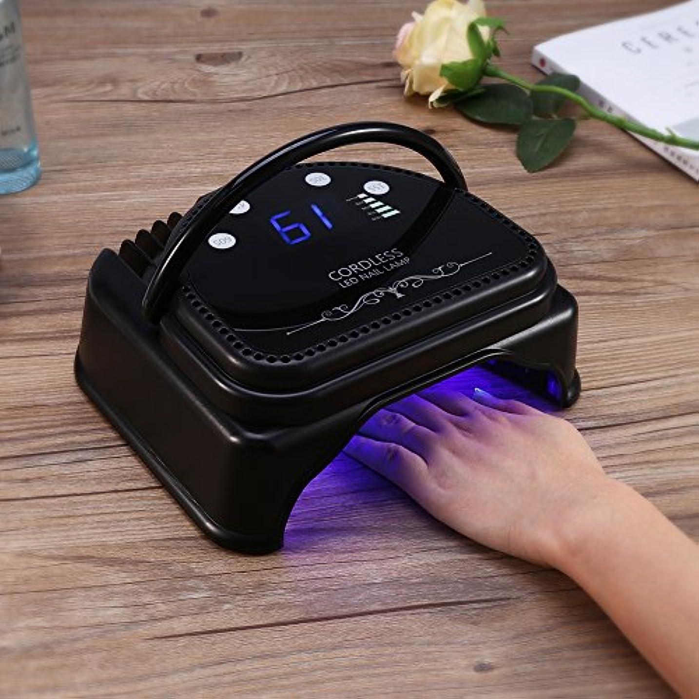 慈悲落ちたネイルランプ、スマートセンサーマニキュアツールを備えた3種類のコードレス充電式LEDネイルドライヤーマシン(私たち)