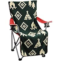 SPICE OF LIFE 椅子カバー チェアカバー FESTA HOME グリーン 52×125cm 両面ボア 厚手 アウトドアチェア SFFQ1803GR