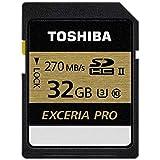 TOSHIBA SDHCカード 32GB UHS-II U3対応 (最大読出速度270MB/s 最大書込速度250MB/s) 日本製 (国内正規品) SDXU-C032G
