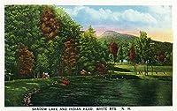 ホワイト山、New Hampshire–風景のシャドウ湖とインディアンヘッド 16 x 24 Giclee Print LANT-19073-16x24