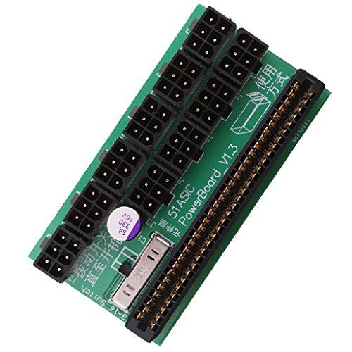 Baoblaze 6ピン 電源ブレークアウトボード HP 1200W/750W ビットコイン マイニング用 アダプタ 全2タイプ - 同じ側