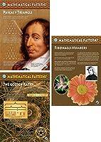 数学パターン(ビニール3ポスターセット、16in x 23in ea ) ; Fibonacci番号、Pascalの三角形、黄金比