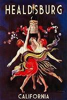 ヒールスバーグ–レディースDancing withワイン 16 x 24 Giclee Print LANT-55859-16x24