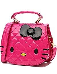 (ボラ-キキ) Bole-kk 子供 ポシェット 2WAY リボン キッズ 女の子 ショルダーバッグ 斜めがけ ハンドバッグ 可愛い 財布 小銭入れ 猫 防水 小学生